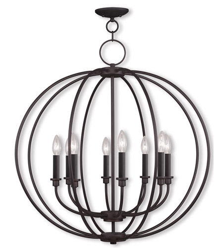 Livex Lighting Milania 8 Light Chandelier in Bronze 4668-07 photo