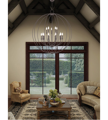 Milania 15 Light 42 Inch Bronze Foyer Chandelier Ceiling