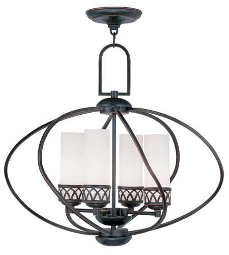Livex Lighting Westfield 4 Light Chandelier in Olde Bronze 4724-67 photo
