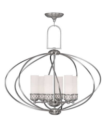 Livex 4726-91 Westfield 6 Light 29 inch Brushed Nickel Chandelier Ceiling Light photo