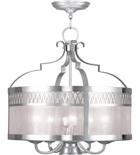 Livex 4735-91 Westfield 6 Light 20 inch Brushed Nickel Chandelier Ceiling Light photo