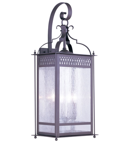 Livex Lighting Westfield 4 Light Outdoor Wall Lantern in Bronze 4747-07 photo