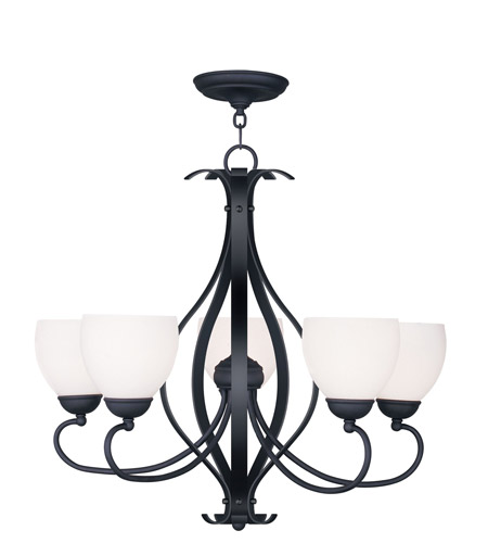 Livex Lighting Brookside 5 Light Chandelier in Black 4765-04 photo