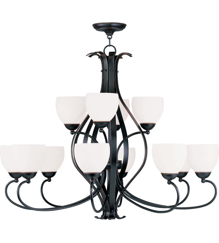 Livex Lighting Brookside 12 Light Chandelier in Olde Bronze 4779-67 photo