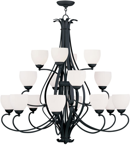 Livex 4789-04 Brookside 16 Light 42 inch Black Chandelier Ceiling Light photo