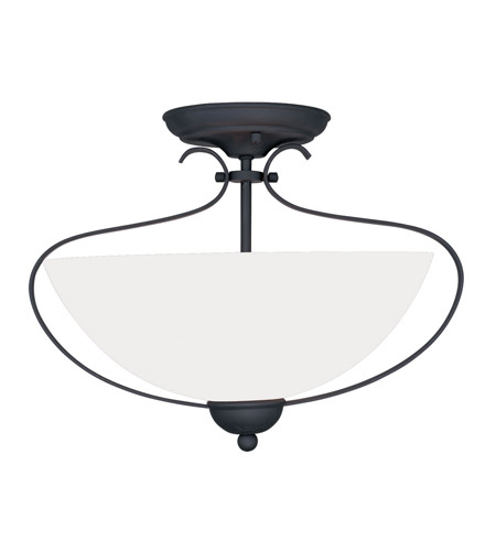 Livex Lighting Brookside 2 Light Ceiling Mount in Black 4798-04 photo