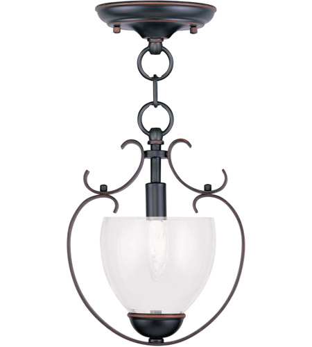Livex Lighting Brookside 1 Light Pendant/Ceiling Mount in Olde Bronze 4800-67 photo