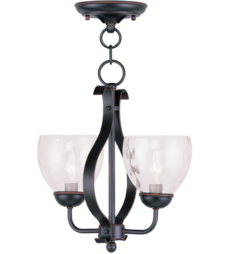 Livex 4804-67 Brookside 2 Light 13 inch Olde Bronze Pendant/Ceiling Mount Ceiling Light photo