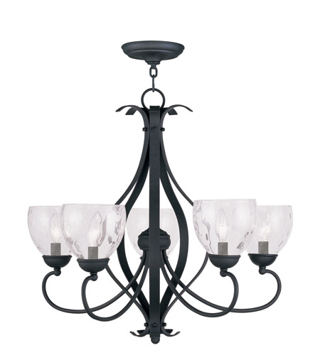 Livex 4805-04 Brookside 5 Light 26 inch Black Chandelier Ceiling Light photo