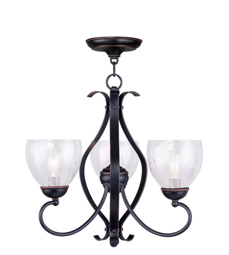 Livex 4807 67 Brookside 3 Light 20 Inch Olde Bronze Chandelier Ceiling
