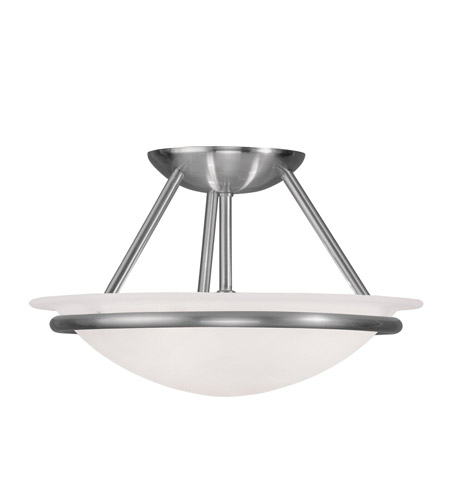 Livex 4823-91 Newburgh 2 Light 12 inch Brushed Nickel Ceiling Mount Ceiling Light photo