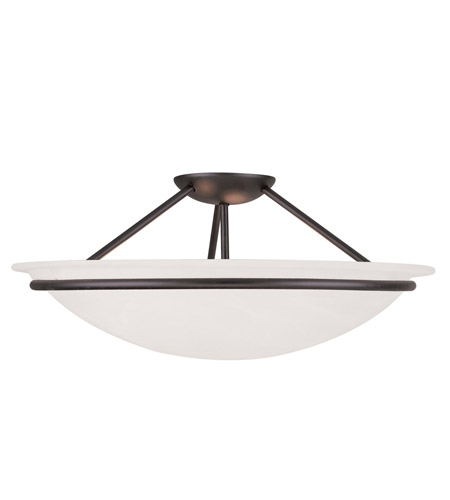 Livex Lighting Newburgh 3 Light Ceiling Mount in Black 4825-04 photo