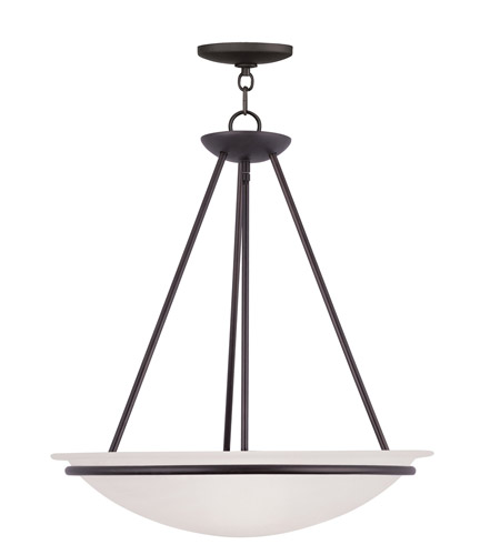 Livex Lighting Newburgh 3 Light Pendant in Bronze 4826-07 photo