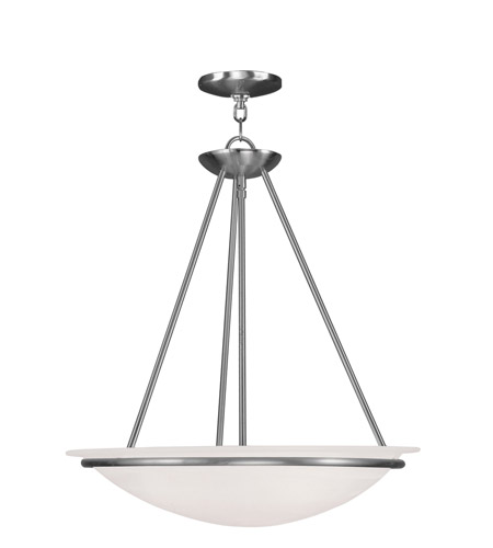 Livex 4826-91 Newburgh 3 Light 20 inch Brushed Nickel Pendant Ceiling Light photo
