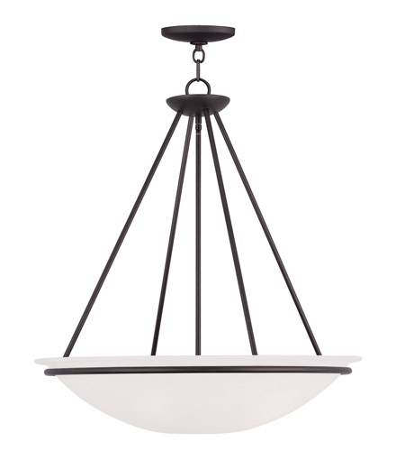 Livex Lighting Newburgh 4 Light Pendant in Bronze 4827-07 photo