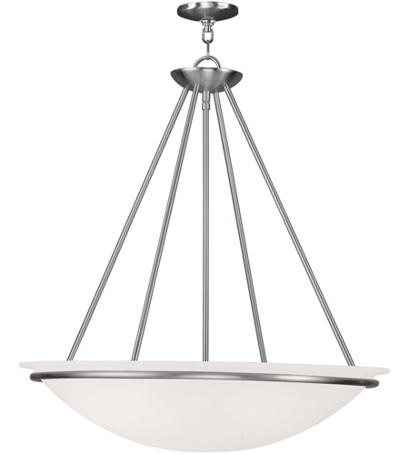 Livex 4827-91 Newburgh 4 Light 24 inch Brushed Nickel Pendant Ceiling Light photo