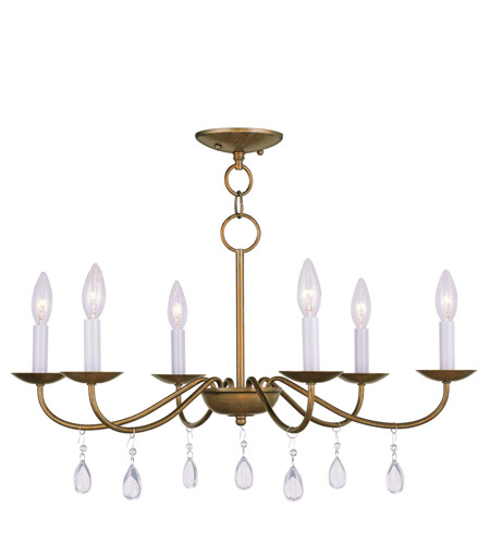 Livex Lighting Mercer 6 Light Chandelier in Antique Gold Leaf 4846-48 photo
