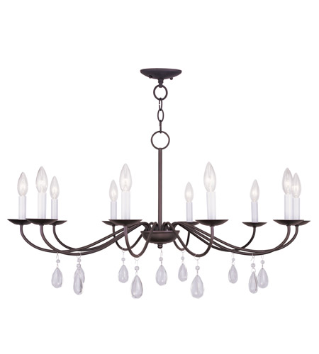 Livex Lighting Mercer 10 Light Chandelier in Bronze 4850-07 photo