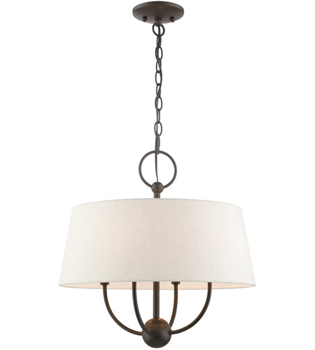Livex 49444-92 Cartwright 4 Light 18 inch English Bronze Pendant Chandelier Ceiling Light photo thumbnail