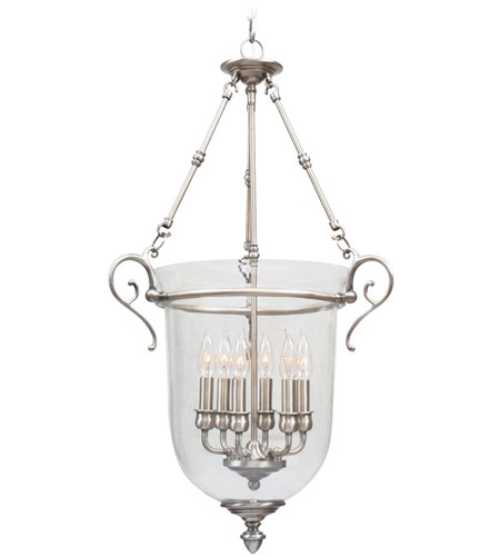 Livex 5023-91 Legacy 6 Light 20 inch Brushed Nickel Pendant Ceiling Light photo