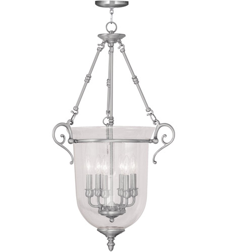Livex Lighting Legacy 6 Light Pendant in Brushed Nickel 5026-91 photo