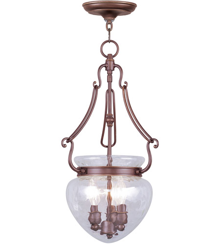 Livex 5043-70 Duchess 3 Light 12 inch Vintage Bronze Pendant Ceiling Light photo
