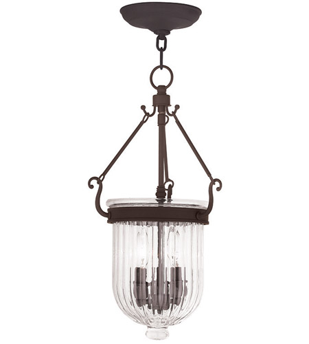 Livex 50515-07 Coventry 3 Light 10 inch Bronze Pendant Ceiling Light photo