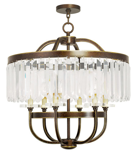 Hand Painted Palacial Bronze Chandeliers