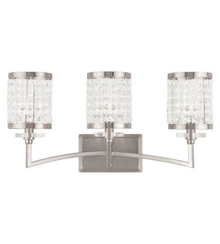 Ordinaire Livex 50563 91 Grammercy 3 Light 23 Inch Brushed Nickel Vanity Light Wall  Light