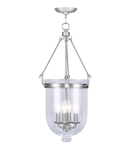 Livex 5065-91 Jefferson 4 Light 14 inch Brushed Nickel Pendant Ceiling Light photo