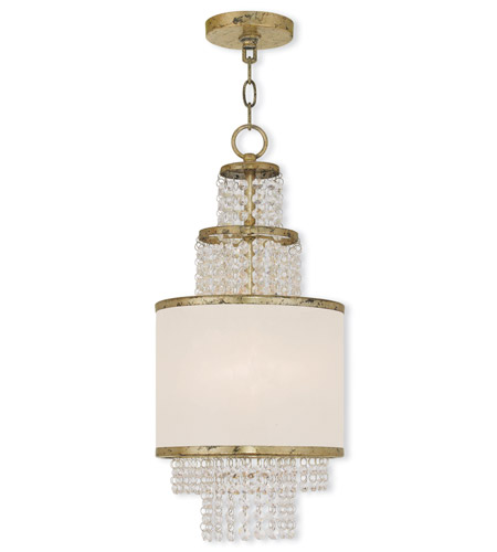 Hand Applied Winter Gold Mini Chandeliers