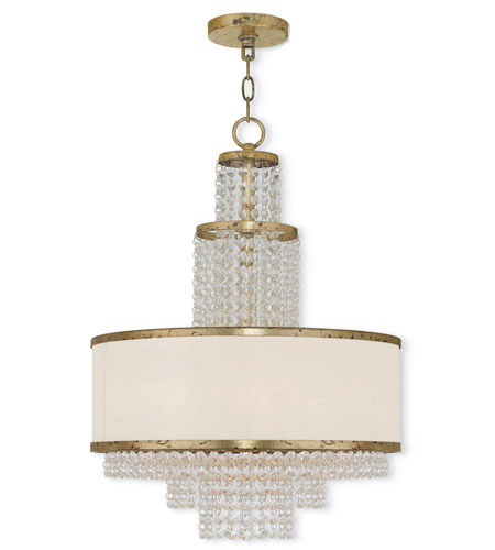 Livex Hand Applied Winter Gold Chandeliers