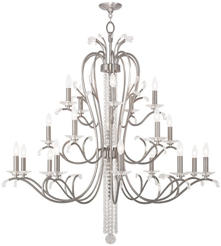 Brushed Nickel Foyer Chandelier Ceiling Light 554898 Serafina 39 Livex 51010 91