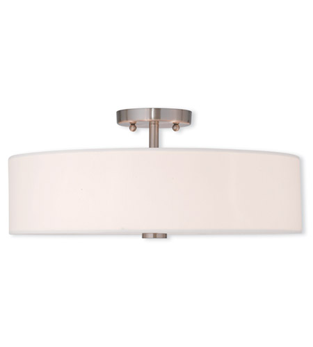 Livex 51055 91 Brighton 4 Light 18 Inch Brushed Nickel Flush Mount Ceiling  Light