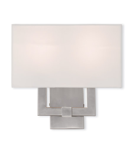 livex hollborn 2 light 13 inch brushed nickel ada wall sconce wall light