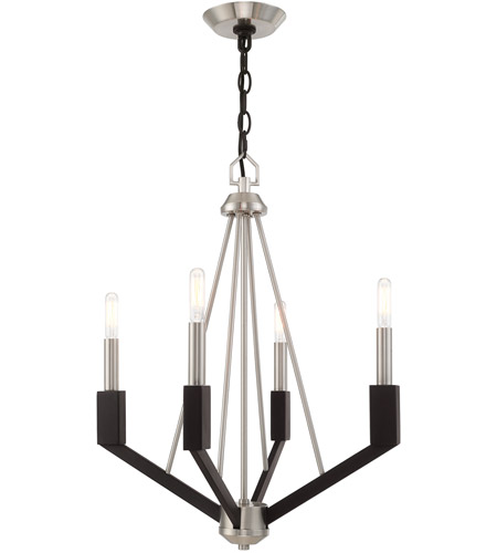Livex Brushed Nickel Steel Mini Chandeliers