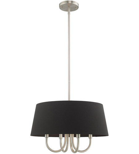 Livex Brushed Nickel Steel Belclaire Chandeliers