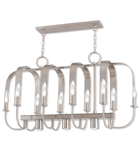 Brushed Nickel Addison Island Lights