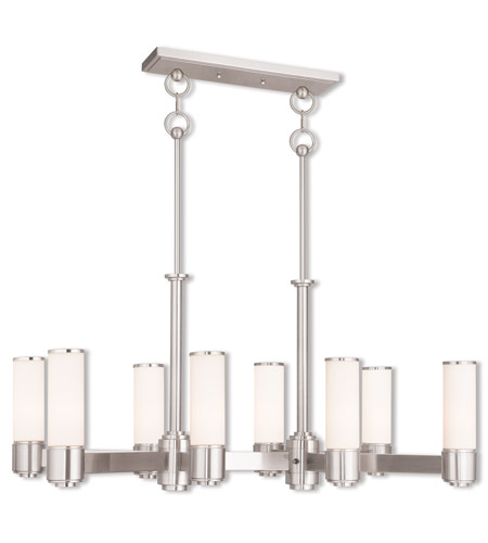 Livex 52108 91 weston 8 light 37 inch brushed nickel linear livex 52108 91 weston 8 light 37 inch brushed nickel linear chandelier ceiling light photo mozeypictures Gallery