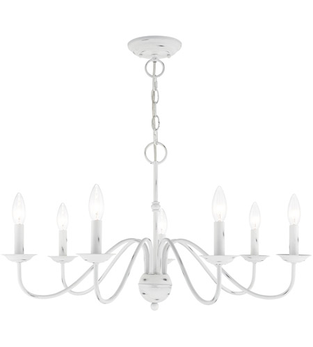 Livex 52167-60 Windsor 7 Light 28 inch Antique White Chandelier Ceiling Light photo thumbnail