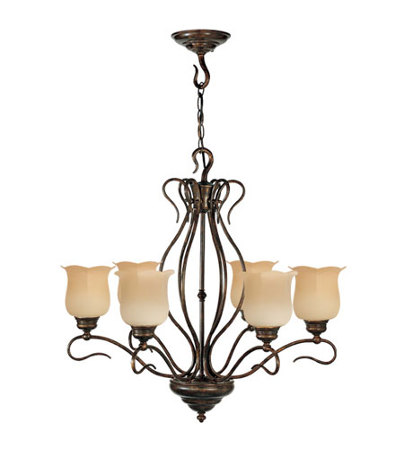 Livex Lighting Chalet 6 Light Chandelier in Moroccan Gold 5236-50 photo