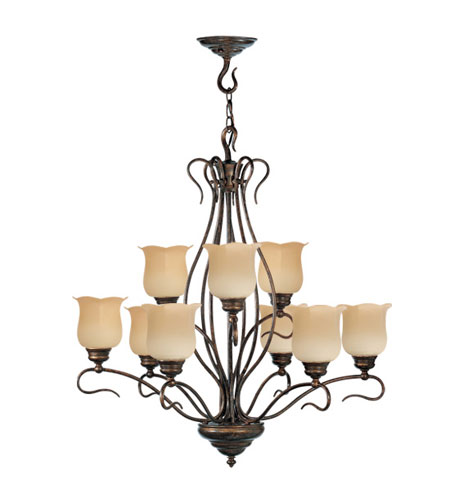 Livex Lighting Chalet 9 Light Chandelier in Moroccan Gold 5239-50 photo