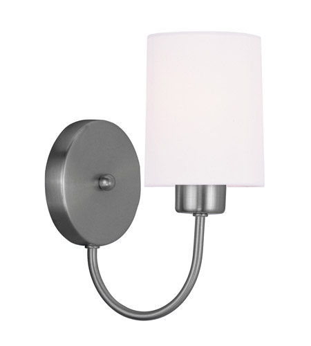 Livex 5261-91 Sussex 1 Light 5 inch Brushed Nickel Wall Sconce Wall Light photo