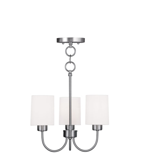 Livex Lighting Sussex 3 Light Pendant/Ceiling Mount in Brushed Nickel 5263-91 photo
