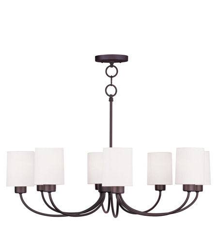 Livex 5268-07 Sussex 8 Light 30 inch Bronze Chandelier/Ceiling Mount Ceiling Light photo