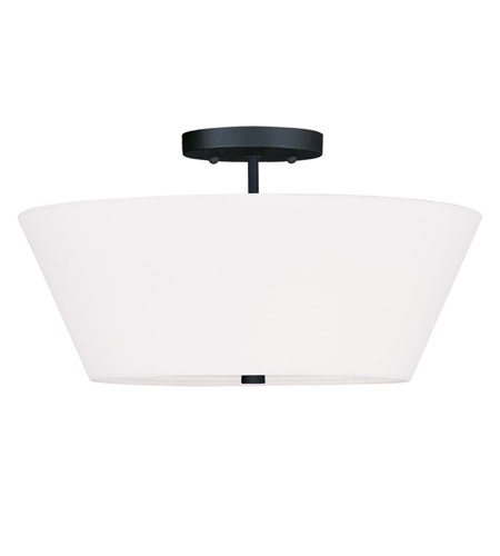 Livex Lighting Mendham 3 Light Ceiling Mount in Black 5270-04 photo