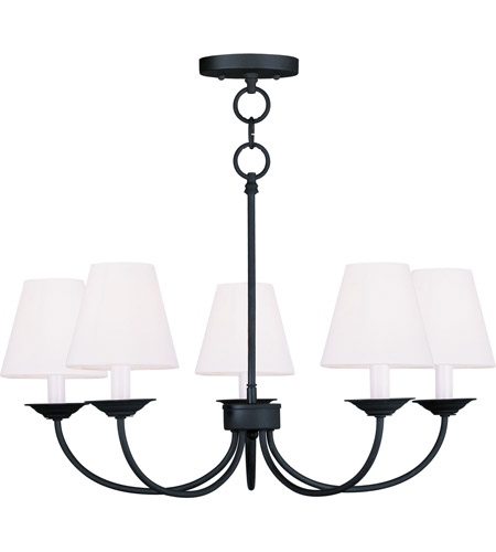 Livex 5275-04 Mendham 5 Light 25 inch Black Chandelier/Ceiling Mount Ceiling Light photo