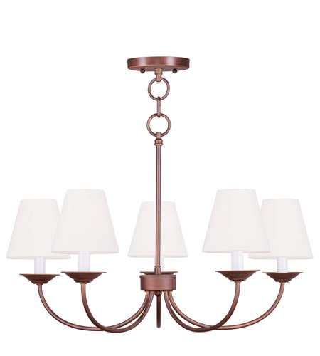 Livex Lighting Mendham 5 Light Chandelier/Ceiling Mount in Vintage Bronze 5275-70 photo