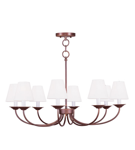 Livex 5278-70 Mendham 8 Light 31 inch Vintage Bronze Chandelier/Ceiling Mount Ceiling Light photo