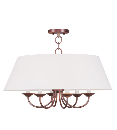 Livex Lighting Mendham 6 Light Chandelier in Vintage Bronze 5282-70 photo